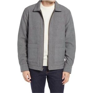 Nordstrom Mens Shop Reversible BomberPlaid Jacket